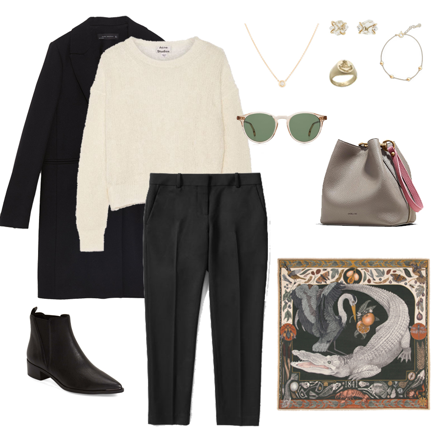 angela-roi-angelou-mini-bucket-thelma-loafers-wide-leg-crop-mejuri-pantos-paris-sunglasses-cuyana-scarf-transparent-sunglasses-ruffs-signet-ring-sabina-savage-scarf-the curated-camel-coat-marc-fisher-yale.jpg