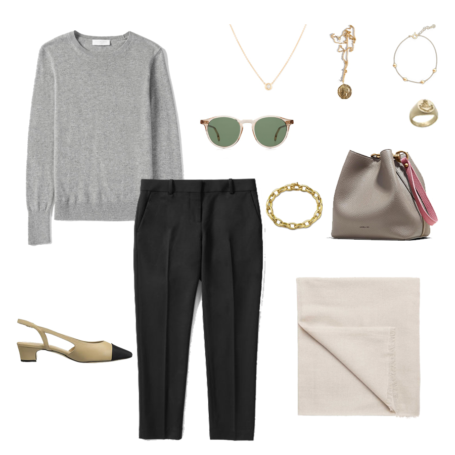 angela-roi-angelou-mini-bucket-thelma-loafers-wide-leg-crop-mejuri-pantos-paris-sunglasses-cuyana-scarf-transparent-sunglasses-ruffs-signet-ring-sabina-savage-scarf-everlane-silk-vaneli aliz.jpg