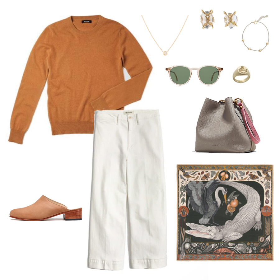 angela-roi-angelou-mini-bucket-thelma-loafers-wide-leg-crop-mejuri-pantos-paris-sunglasses-cuyana-scarf-transparent-sunglasses-ruffs-signet-ring-sabina-savage-scarf-everlane-silk-uniqlo-wool-nadaam-cashmere-nisolo-mules.jpg