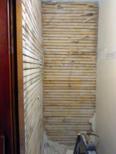 This Drafty Old Closet Is Against Two Exterior Brick Walls And Had No  Insulation At All