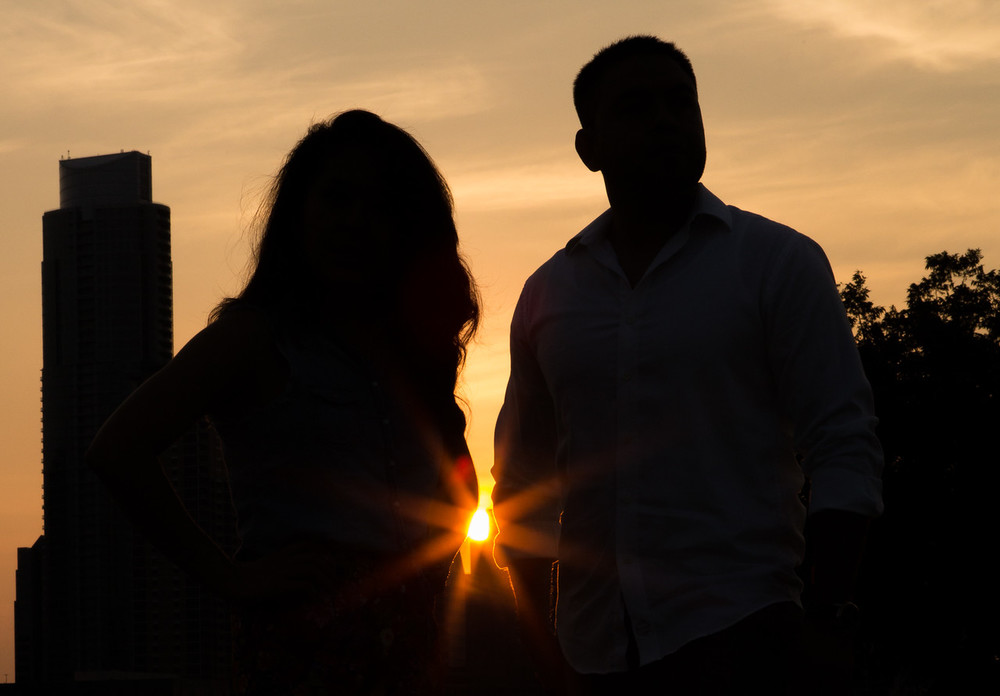 This was JUST after the couple got there. I was still playing with try the flash in this scenario. I finaly decided to just go with what I know and took the silhouette image with the sun starburst.