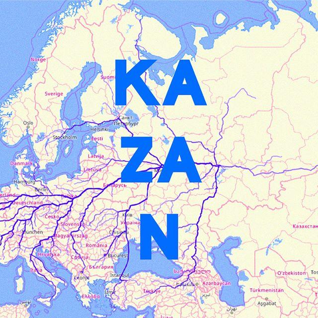 Todos los caminos llevan a Kazan. — All roads to Kazan . Basado en el juguete web de James Bridle — Based on James Bridle's web toy . . . . #elpiscinazo #piscinazofutbol #futbolart #footballart #caminoarusia #caminoamoscu #roadtrip #roadtorussia #moscow #moscu #bogota #berlin #madrid #jamesbridle #russia #rusia #kazan