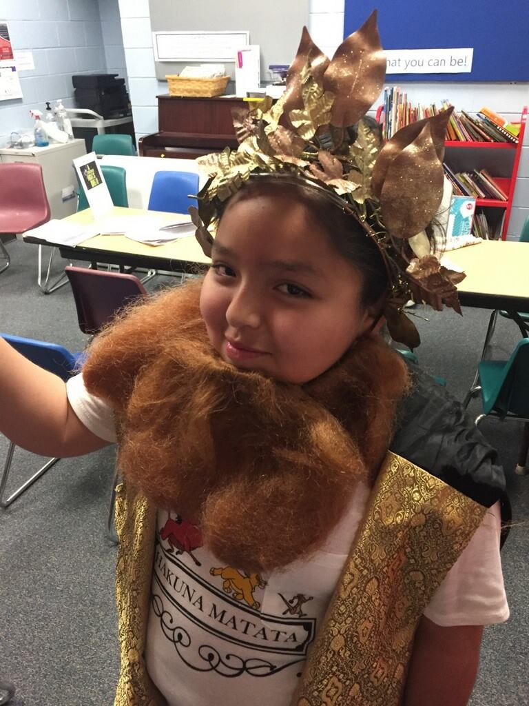 Oberon from A Midsummer Nights Dream at the Boys and Girls Club during Learn Forward's Spring Break-speare Project