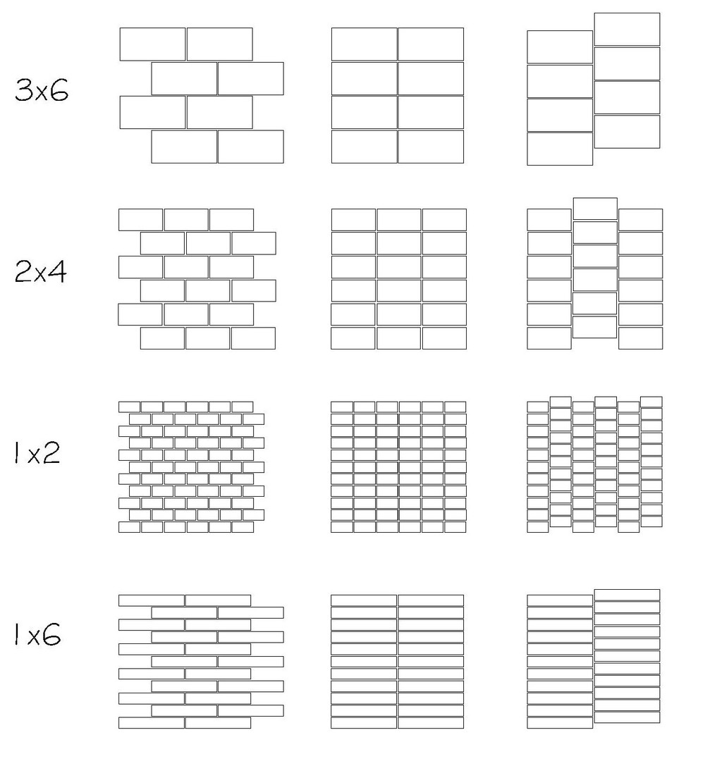 laNeva Span Collection rectangular field tile layouts