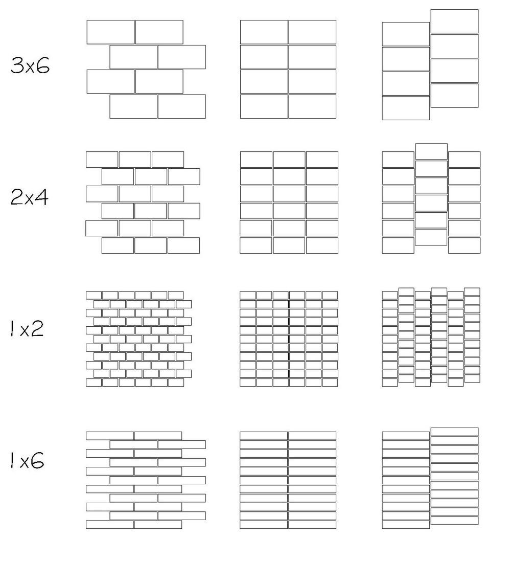 laNeva Span Collection rectangular field tile layouts