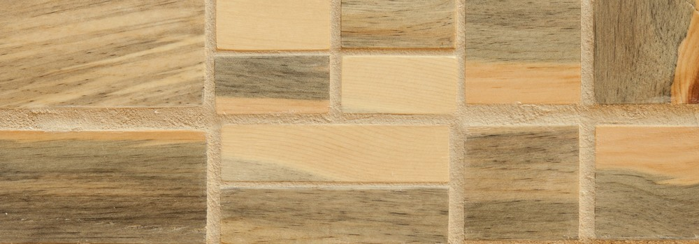 laNeva 2x4, 1x4, 2x2, 1x2 grouted Beetlekill tile