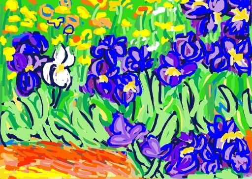Irises, Vincent van Gogh, 1889, at @GettyMuseum