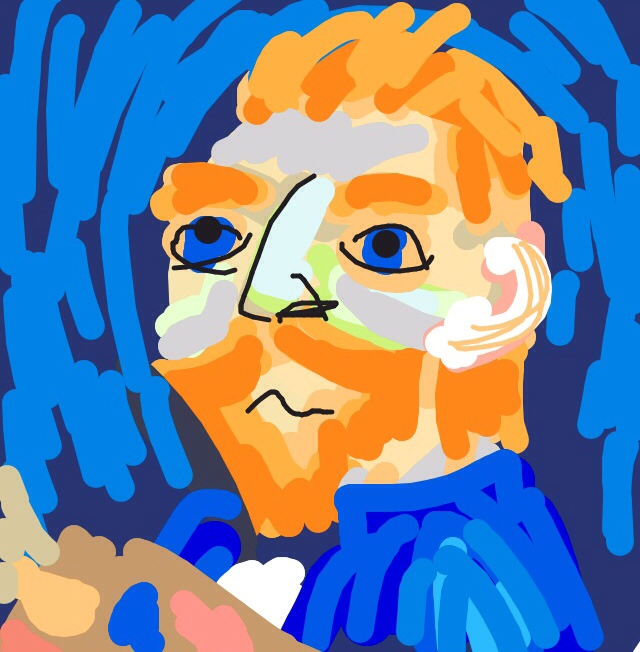 Self Portrait, Vincent van Gogh, 1889 at @ngadc