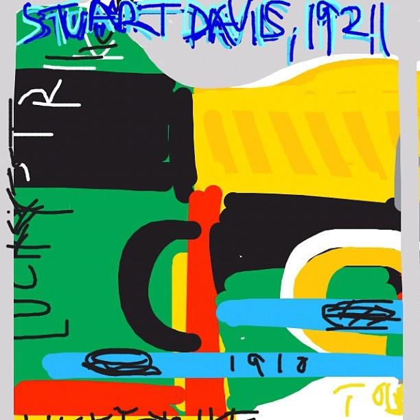 Lucky Strike, Stuart Davis, 1921 at @MuseumModernArt