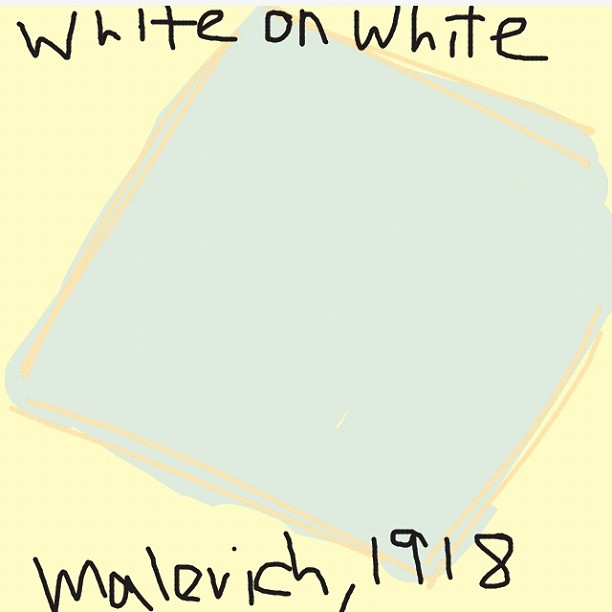 Supremacist Compisition: White on White, Kazimir Malevich, 1918 at @MuseumModernArt