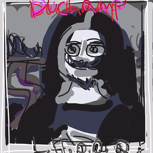 L. H. O. O. Q., Marcel Duchamp, 1919