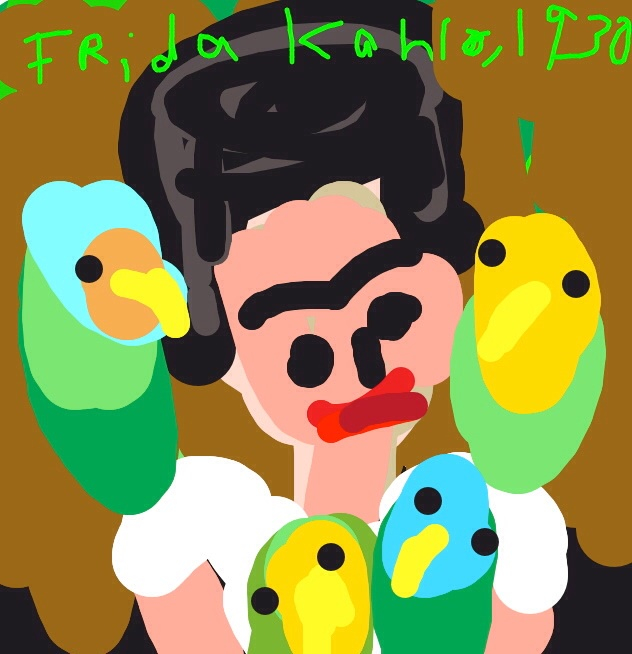 Me and My Parrots, Frieda Kahlo, 1930