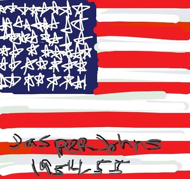Flag, Jasper Johns, 1954-55 at @MuseumModernArt