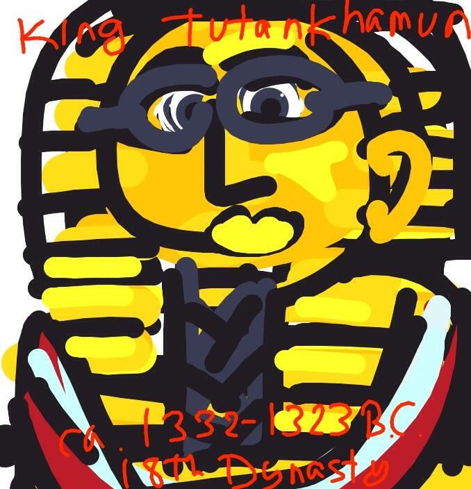 Mask of Tutenkhamun's Mummy, c. 1332-1323 BC at The Egyptian Museum