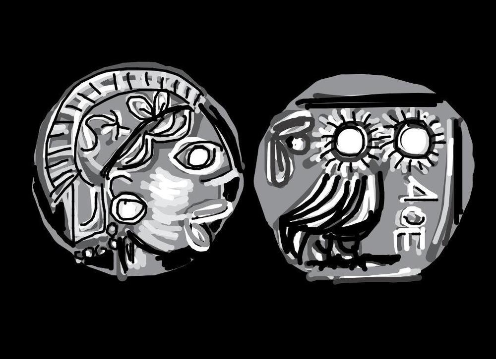 Athenian Coin 5th Century BC