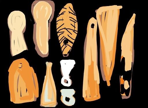 Bone tools. Nahal cave, Pre-Pottery Neolithic B, 7th millennium BC @israelmuseum