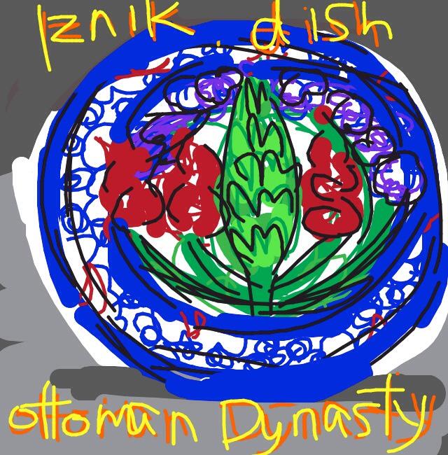 Iznik dish, Ottoman Dynasty, Turkey at @artsmia