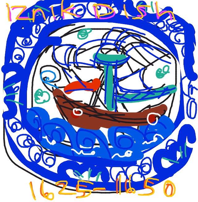 Iznik dish with ship, ca 1625-1650, Turkey at @V_and_A