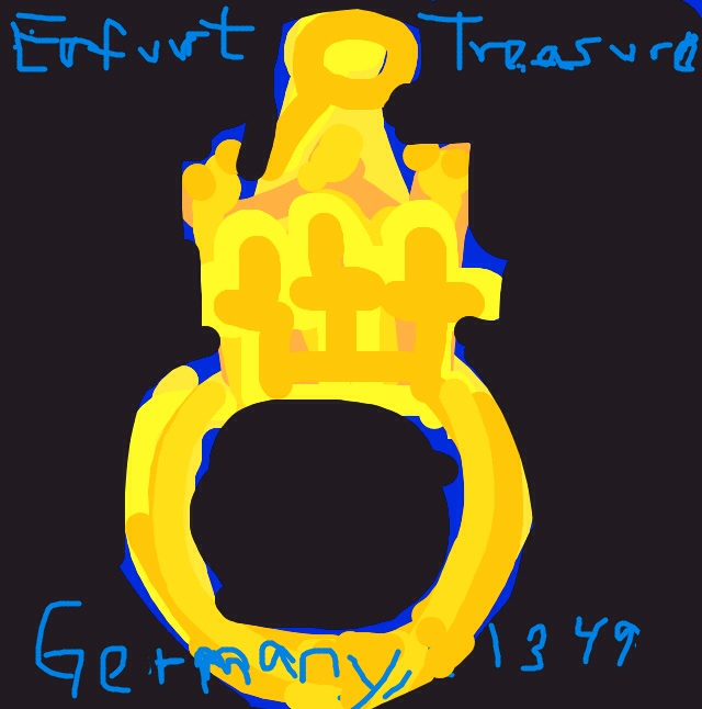 The Erfurt Ring, Germany, 1349 at Alt Synagogue Museum, Erfurt Germany