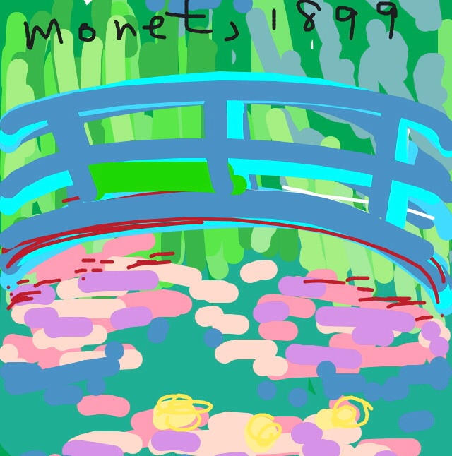 Bridge over a Pond of Water Lilies, Claude Monet, 1926 at @MetMuseum