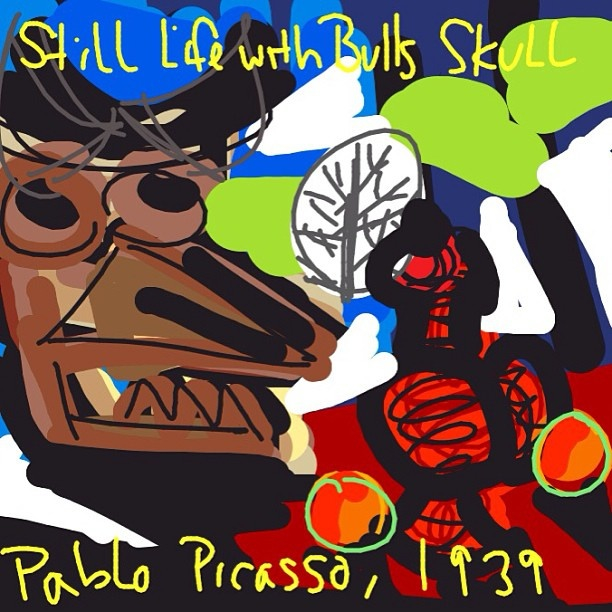 Still Life with Bull's Skull, Pablo Picasso, 1939 at @ClevelandArt