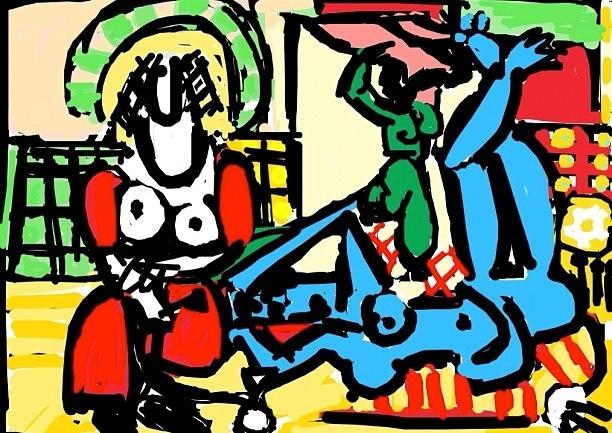 Les femme d'Alger (Women of Algiers), Pablo Picasso, 1955 at @SFMOMA