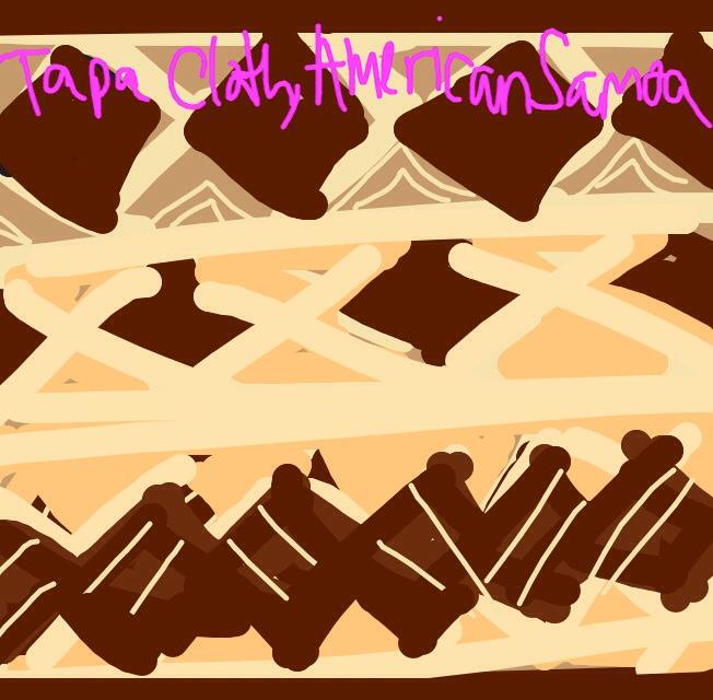 Tapa Cloth, Fiji, Tonga or Samoa Islands, Oceania, c. 1960-70 ar @artsmia