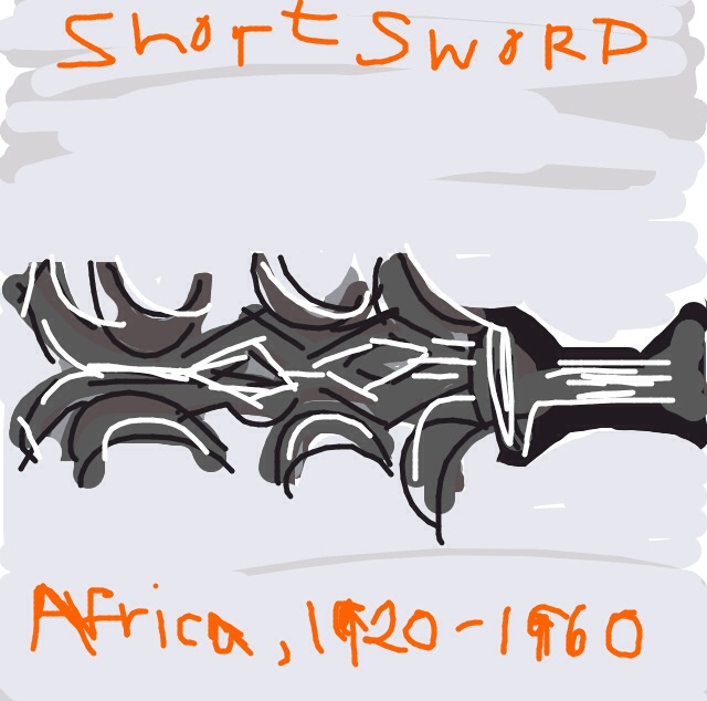 Short Sword, Koda. 1920-1960, Democratic Republic of Congo, Africa at @artsmia