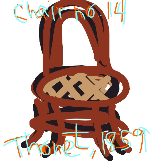 No. 14 Chair, Michael Thonet, Austria, 1859