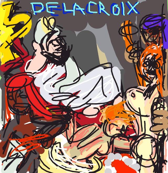 Death of Sardanapalus, Eugène Delacroix. 1827, Paris at @MuseeLouvre