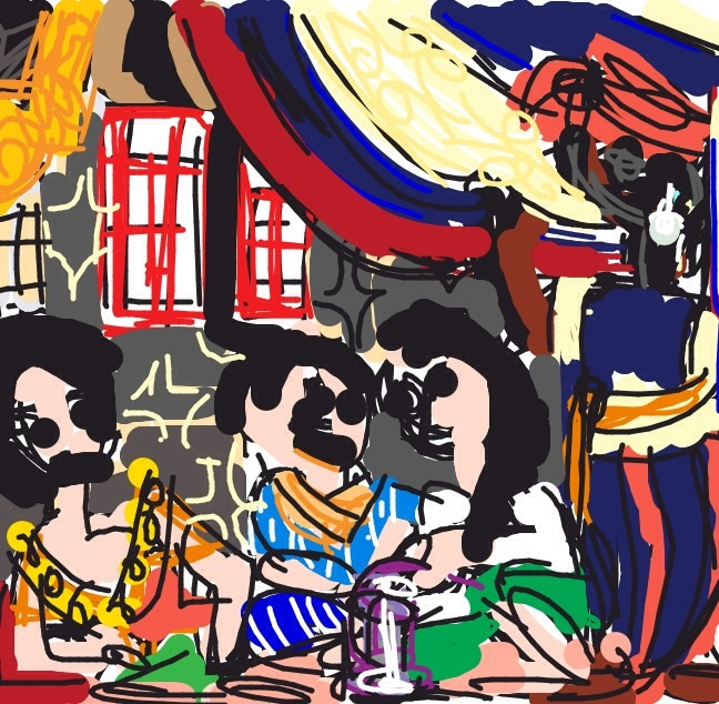 Women of Algiers in Their Apartment, Eugene Delacroix, Salon of 1834 at @MuseeLouvre