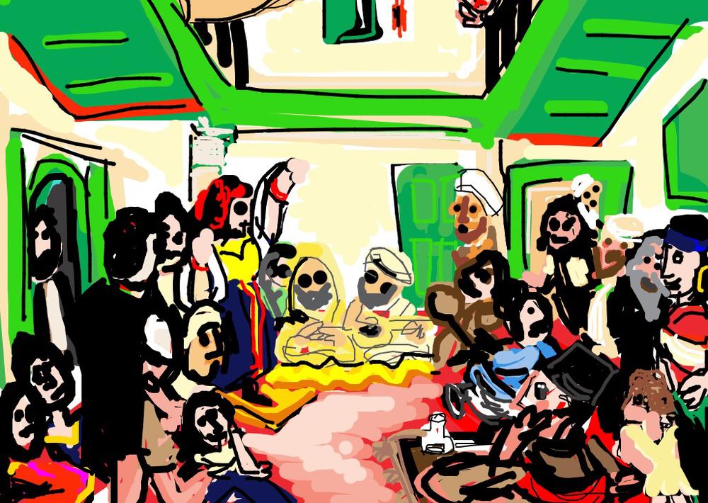 Jewish Wedding in Morocco, Eugène Delacroix, 1841 at @museelouvre
