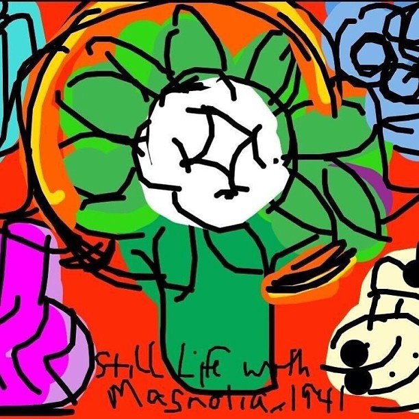 Still Life with Magnolia, Henri Matisse, 1941, @centerpompidou