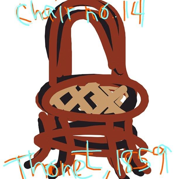 Chair no. 14, Michael Thonet, 1859/1881 at @museummodernart