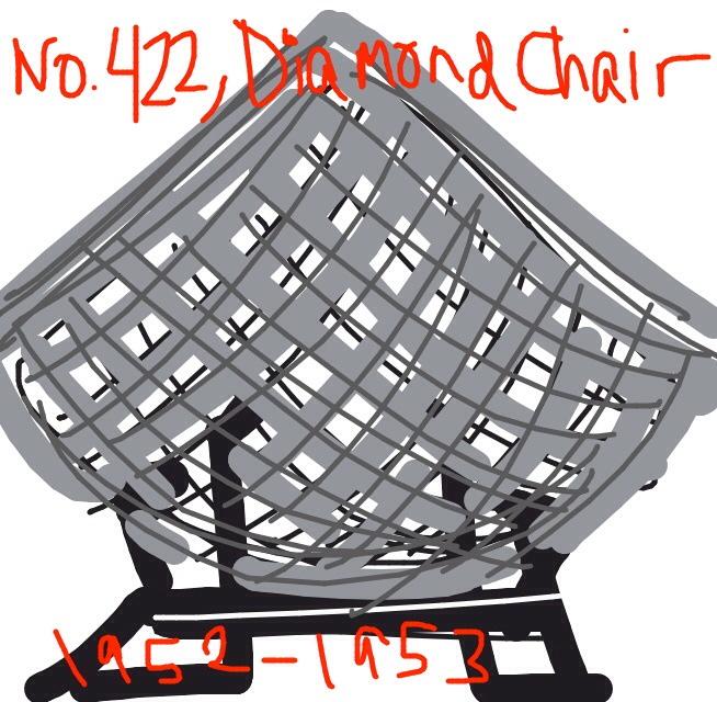 Diamond Chair, Harry Bertoia for Knoll, 1952 at @MetMuseum