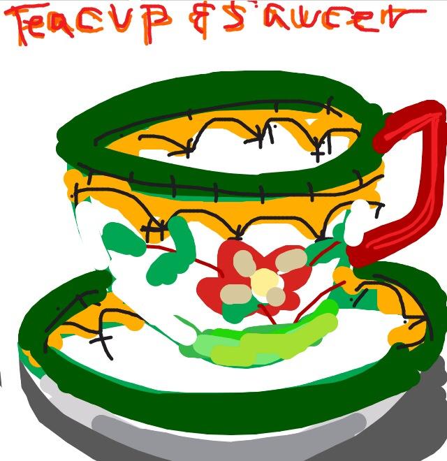 Teacup & saucer, Karl L. H. Müller, ca. 1876 at @MetMuseum
