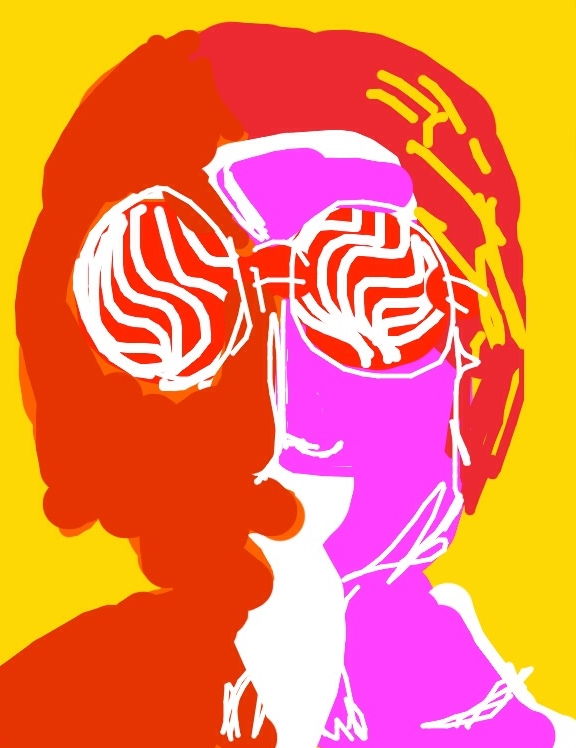 Poster: John Lennon, 1967. Designed by Richard Avedon at @cooperhewitt