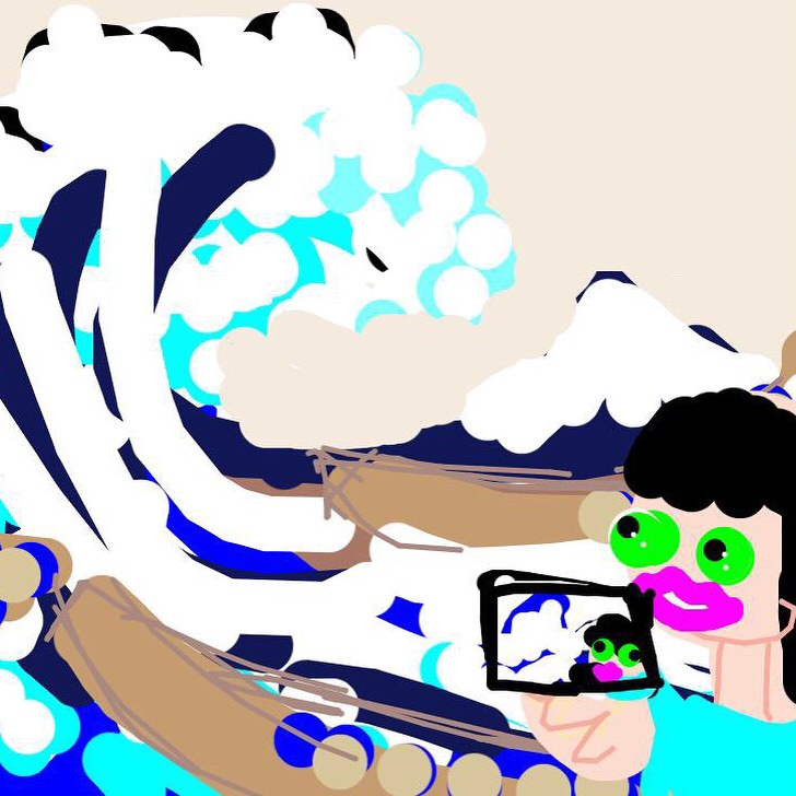 #MuseumSelfie with The Great Wave of Kanagawa, Katsushika Hokusai, c. 1829-32 at @MetMuseum