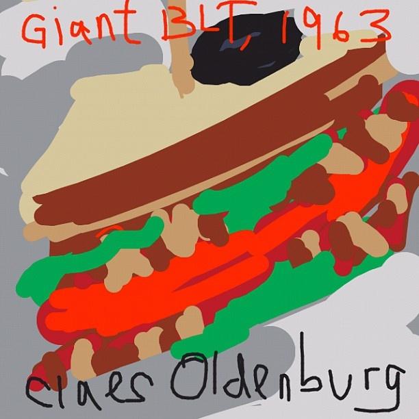 Giant BLT, Claes Oldenburg, 1963 at @whitneymuseum