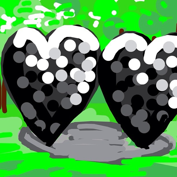 Two Big Black Hearts, Jim Dine, 1985 at @decordovaspandm
