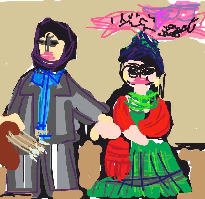 Frieda and Diego Rivera, Frida Kahlo, 1931 at @SFMOMA
