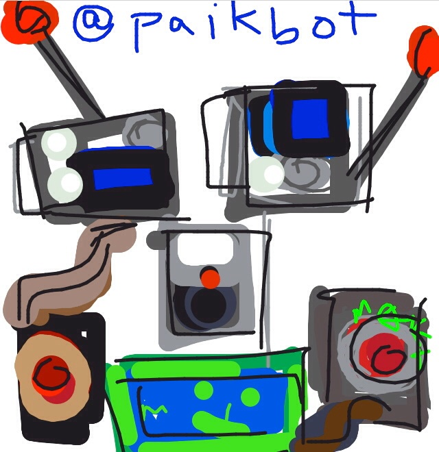 Paik bot, Nam June Paik, 1992 at @Smithsonian