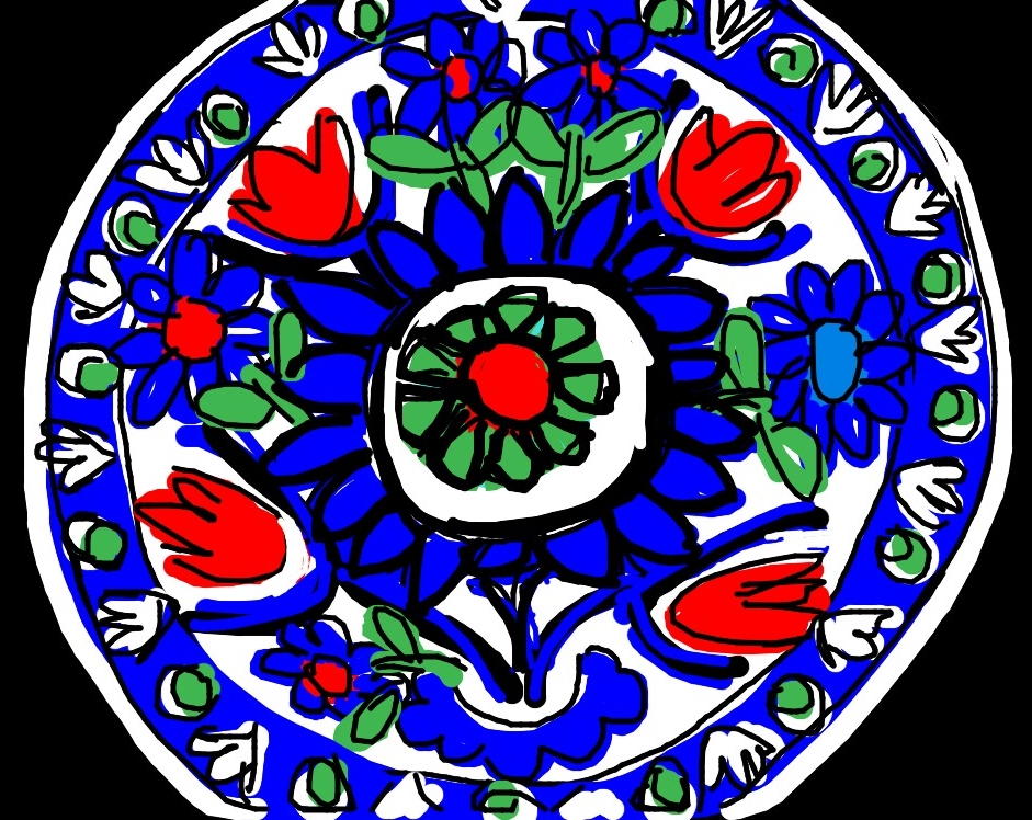 Dish with Floral Design, Iznik, Turkey, second half of 16th C. at @metmuseum