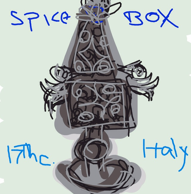Spice box, Italy, 17th C. at @V_and_A