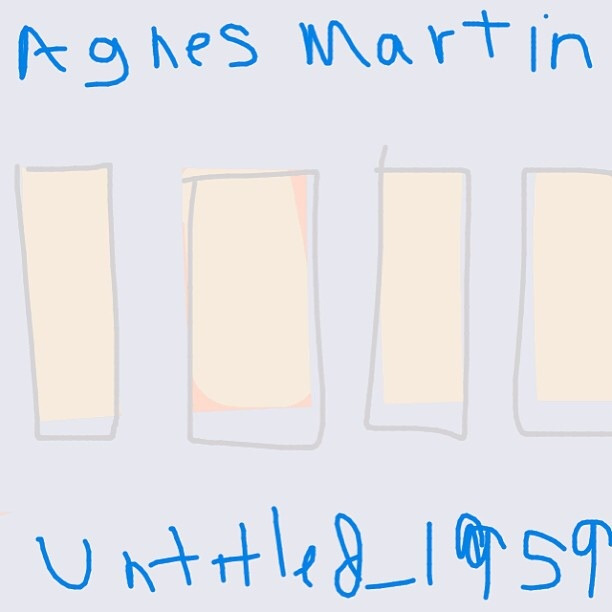 Untitled, Agnes Martin, 1959 at @Guggenheim