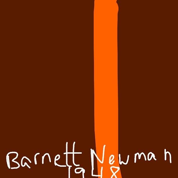 Onement 1, Barnett Newman, 1948 at @MuseumModernArt
