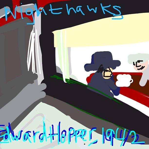 Nighthawks, Edward Hopper, 1942 at @artinstitutechi