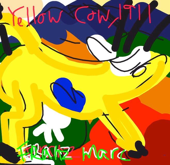 Yellow Cow, Franz Marc, 1911 at @Guggenheim