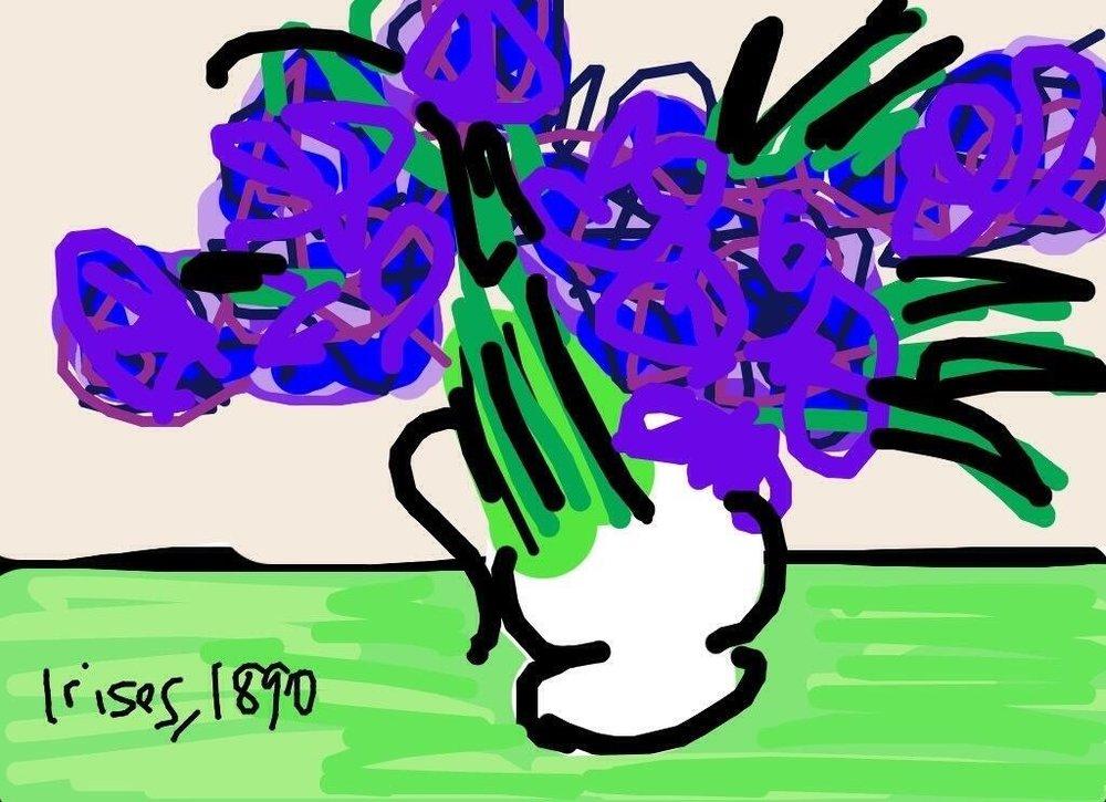 Irises, Vincent van Gogh, 1890