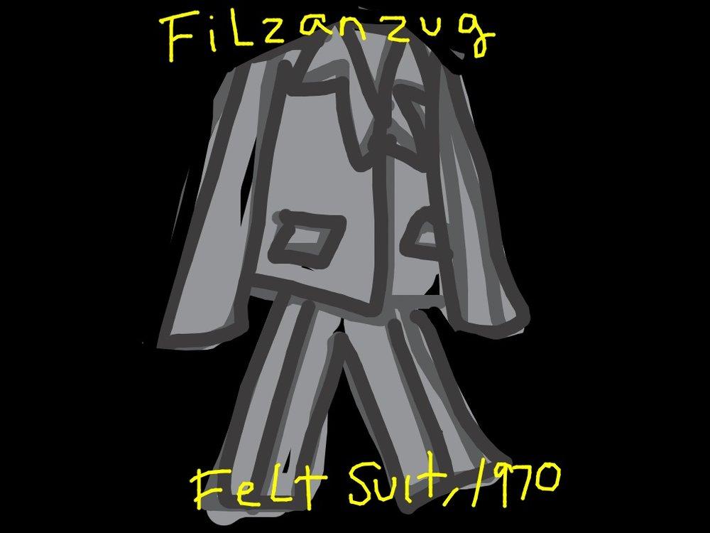Felt Suit, Joseph Beuys, 1970